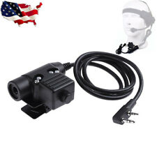 Airsoft Wargame U94 PTT Military Adapter PTT Z113 for KENWOOD TYT BAOFENG RADIO