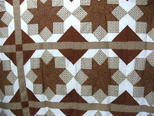 """Pieced Quilt Top""""Eight Point Star"""", 77"""" X 67"""", 100% Cotton Material, Sew,Quilt"""