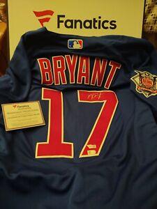 Fanatics Kris Bryant Signed Jersey Cubs Autographed Authentic Majestic Size 44