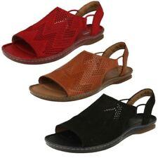 Sandalias y chanclas de mujer de color principal marrón de piel talla 41