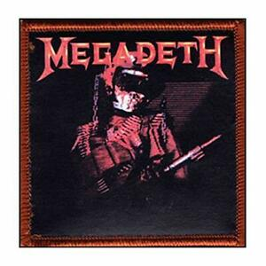 """Megadeath - Iron On Embroidered Patch 3"""" x 3"""""""