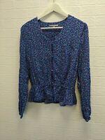 Oliver Bonas Blouse Floral Design Regular Fit Size UK 6