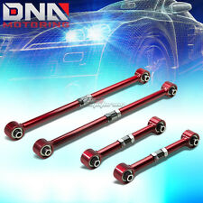 84-87 COROLLA AE86 RED REAR LATERAL LINK+TRAILING CONTROL ARM/BAR SUSPENSION KIT