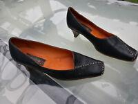 schicke everybody Damen Schuhe Pumps Gr.38 Leder schwarz