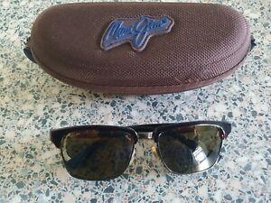Maui Jim brown tortoiseshell frame polarized sunglasses. Kawika MJ257.With case.