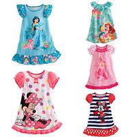 New Toddler Girls Kids Nightie Nightdress Pyjamas Summer Sleepwear Dress Cotton