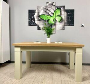 OAK HANDMADE FARMHOUSE CHUNKY DINING TABLE 150x90x75 cm