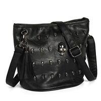 Fashion Women Skull Punk Leather Goth Tassel Messenger Shoulder Bag Tote