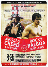 CLASSIC MOVIE ArtPrint ROCKY 2 Balboa vs Creed  420mm x 297mm Ltd Edt A3 Print