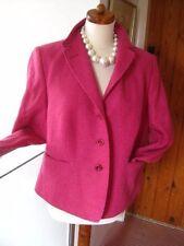 LADIES vintage ARTIGIANO new virgin wool coat JACKET pink UK 16 14 retro boxy