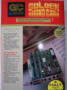 TOPTEK Golden Sound Card Vers.2.5 ISA 8 Bit / DOS PC 286 386 486 MPU-401 - NEU