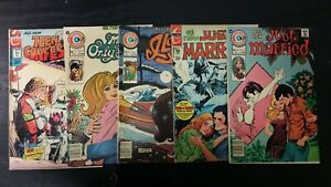 1972 CHARLTON COMIC LOT OF (5) ASSORTED ROMANCE #4-115 MIXED-GRADE
