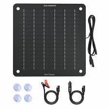 5w Solar Panel 12v Trickle Charger Battery Charger Kit Maintainer Boat Rv Car