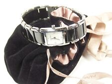 PANDORA Watch Black Enamel SS Diamond 0.02ct  811023WH