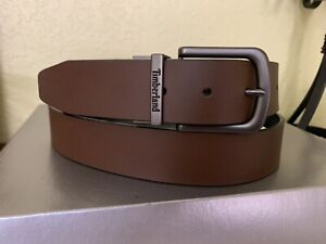 Timberland Classic Reversible Belt (Men's) Brown Black with Size Chart