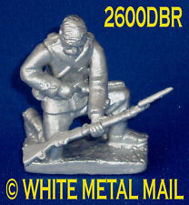 Military Lead Casting LA2600DBR 24th Foot Enlisted Man Kneeling Reloading