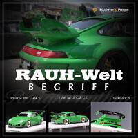 Timothy & Pierre TP 1:64 Prosche 993 RWB Rough Rhythm Green Resin Car