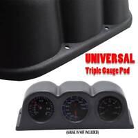 "Universal 52mm 2"" Triple 3 Hole Auto Gauge Pod Mount Holder Meter Cup Dash Pod"
