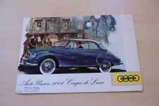 211158) DKW Auto Union 1000 Coupe de Luxe Prospekt 1958