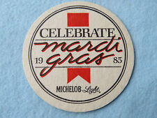 Beer Pub Coaster ~ Michelob Light Mardi Gras 1985 ~ St. Louis, Missouri Brewery