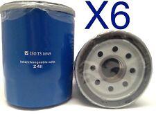 6X Oil Filter Suits Z411 FORD KIA MAZDA MITSUBISHI PROTON WZ411
