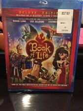 The Book of Life (Blu-ray/DVD, 2015, 3-Disc Set, 3D/2D) BRAND NEW