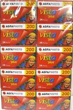 10 Rolls Agfa Vista Plus ISO 200 35mm Color Print Film  24 exp. Agfaphoto 2/2017
