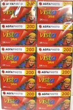 10 Rolls Agfa Vista Plus ISO 200 35mm Color Print Film  24 exp. Agfaphoto 2/2017