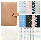 Notebook Binder Personal Planner Budget Organizer PU Leather Cover Cash Envelope