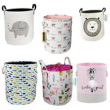Storage Basket Laundry Hamper Bins Bucket Bin Kid Baby Toy Clothes Organizer