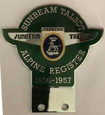 Genuine Sunbeam Talbot Alpine Register Car Badge