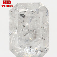 Natural Loose Diamond White Grey Color Emerald I1 Clarity 4.60 MM 0.38 CT N6398