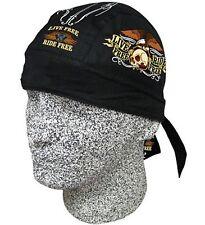Live Free Ride Free Bandanna Biker Doo Du Rag Head wrap Skull cap Capsmith Hat