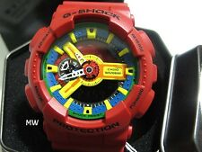Casio G-Shock Men Water Resistant Crazy Red Watch GA-110FC-1ADR GA-110FC-1A New