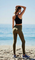 NEW Free People Movement Seamless Contour Yoga Legging in Olive XS/S-M/L $109.12