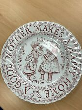 Crownford China co Norma Sherman ' A tribute to Mother...' Plate (Hospiscare)