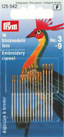 Prym Assorted Embroidery Crewel Needles Size No. 3-9 (125542)