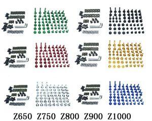 CNC Complete Fairing Bolts Bodywork Screws Nuts Kit For Kawasaki Z650 Z750 Z800