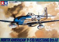 Tamiya 61040 1/48 Scale Model Kit WWII USAF North American P-51D Mustang