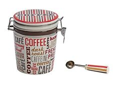 Boston Warehouse Coffee Canister and Scoop Set, Coffee Words