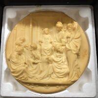 """8.5 Alabaster Plate Studio Dante di Volteradici """"Le Porte Del Ghiberti"""""""
