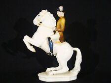 Hutschenreuther Figurine Artist Signed G. Werder Hand Painted Lipizzan Horse