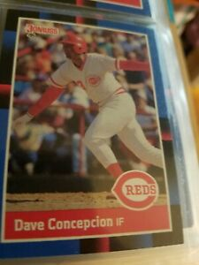 Dave Concepcion Cincinnati Reds Donruss 88 Leaf Cards Ungraded