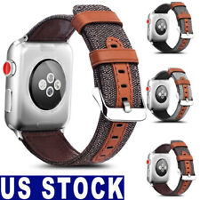 For Apple Watch Band Strap Wrist Leather Fabric iWatch 42mm/38mm Series 3/2/1