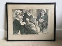 Feliks Topolski Law Print. Barrister. Lincoln's Inn