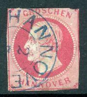 Germany 1859 Hannover 1Gr Carmine SG # 22 VFU  K10