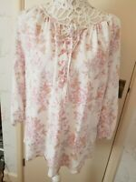 Linen Top Tunic Floral Pink M 12
