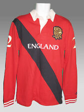 NIKE ENGLAND Rugby Style Shirt Red Navy Gold Rose Rugby shirt, Cotton M