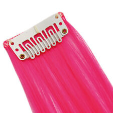 "20"" Clip in Hair Extensions HIGHLIGHTS Neon Pink Straight 8 x 1"" pcs 50g"