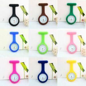 Unisex Silicone Multi Colors Gift Nurse Watch Nursing Clip On Fob